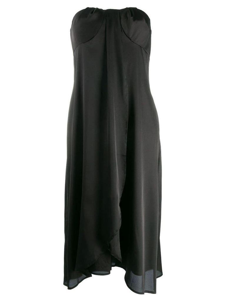 Federica Tosi strapless drape dress - Black
