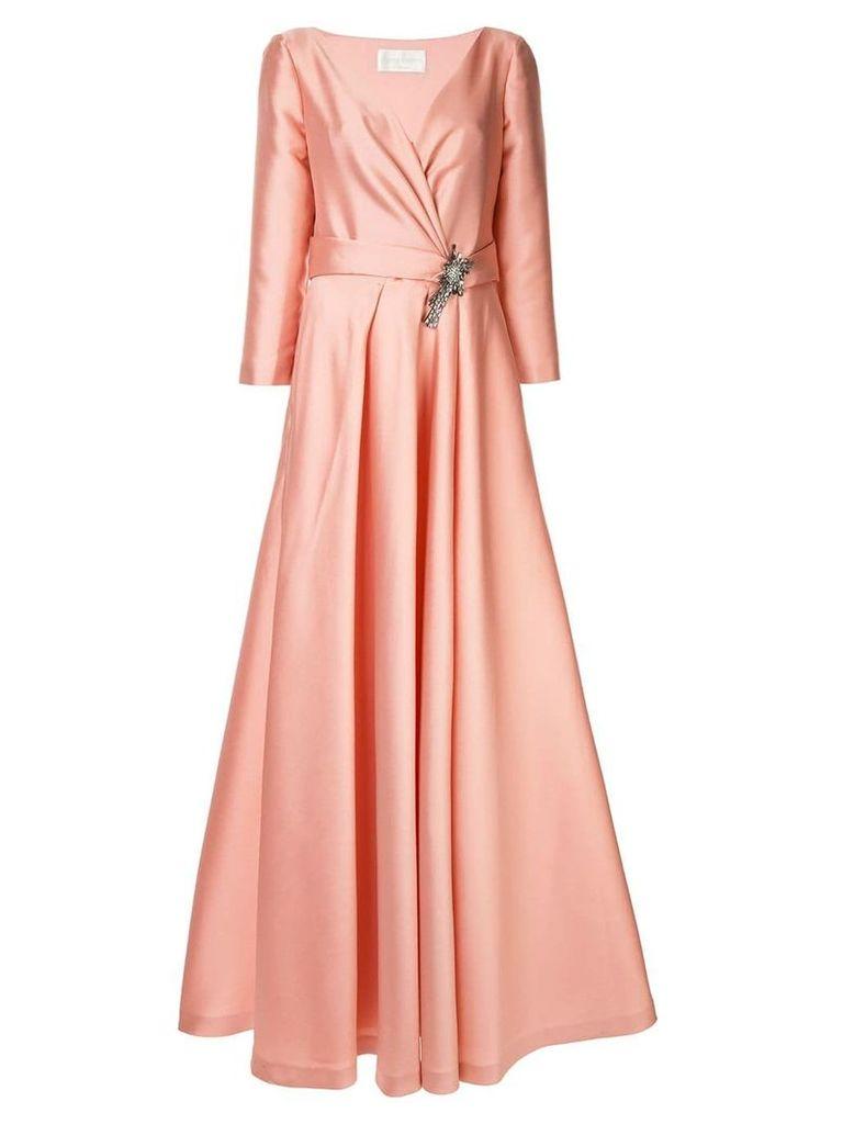 Alberta Ferretti flared wrap dress - Pink