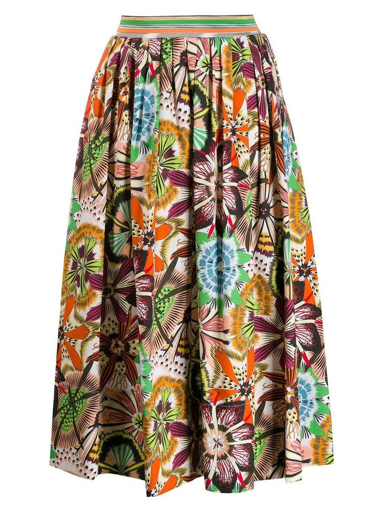 Missoni pleated midi skirt - Orange