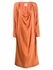 Erika Cavallini long-sleeve flared dress - Orange