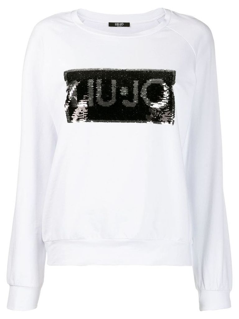 Liu Jo sequinned logo sweatshirt - White