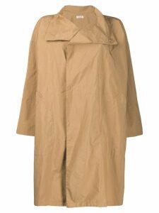 Plantation button oversized coat - Neutrals