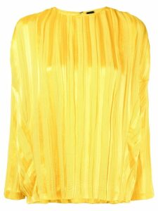 Zero + Maria Cornejo plissé long-sleeved blouse - Yellow
