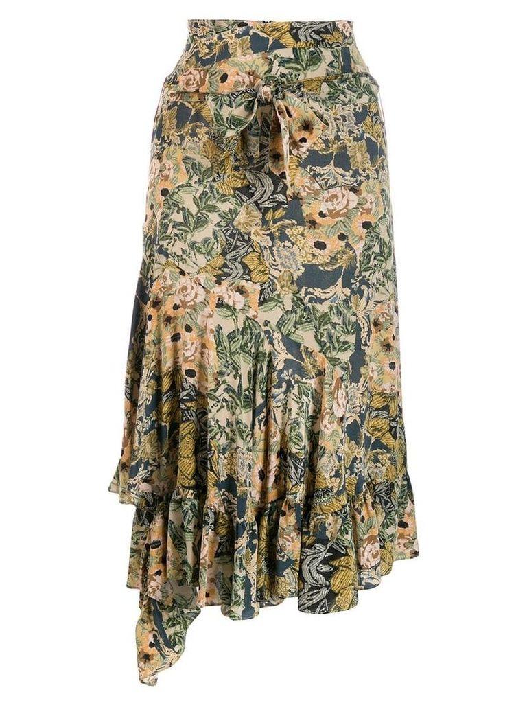 Rokh mismatch drape skirt - Neutrals