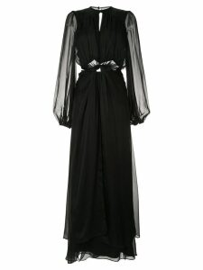 Temperley London front knot evening dress - Black