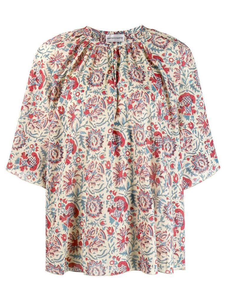 Antik Batik floral print blouse - Neutrals