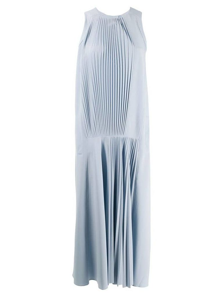 Tibi Vestido pleated dress - Blue
