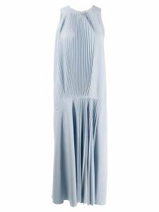 Tibi Vestido pleated dress - Blue