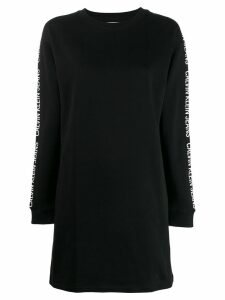 Calvin Klein Jeans logo sweatshirt dress - Black
