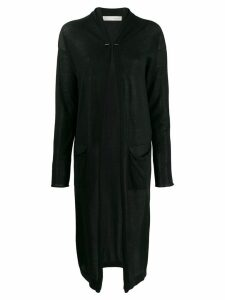 Isabel Benenato long cardi-coat - Black