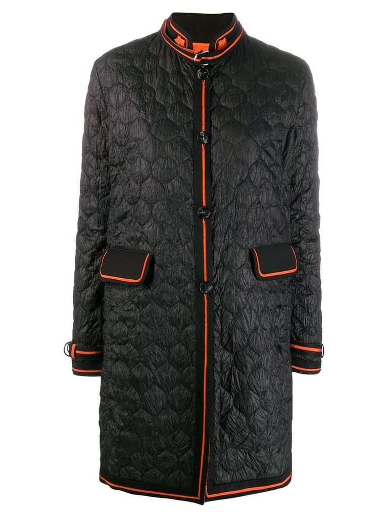 Ermanno Scervino quilted chinese-styled coat - Black