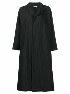 Plantation flared oversized coat - Black