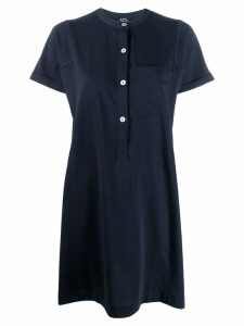 A.P.C. short-sleeve flared dress - Blue