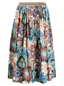 Missoni pleated midi skirt - Blue