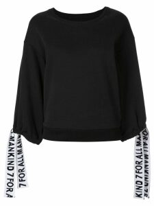 7 For All Mankind wide sleeved sweatshirt - Black