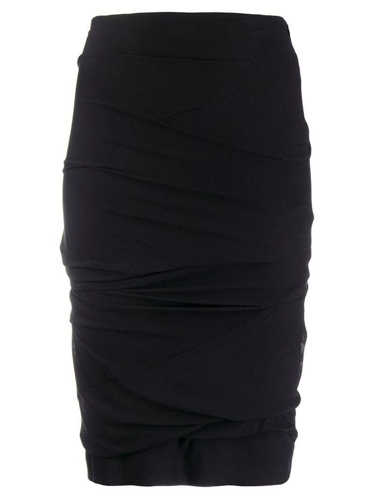 Tom Ford gathered pencil skirt - Black