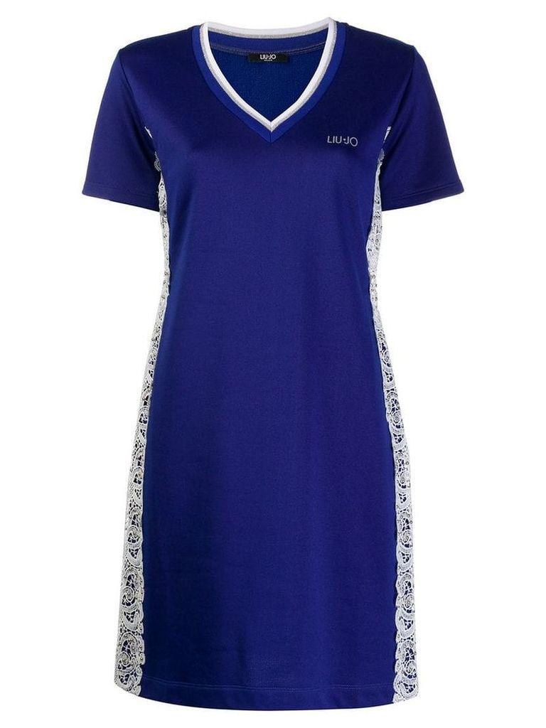 Liu Jo knitted jumper mini dress - Blue