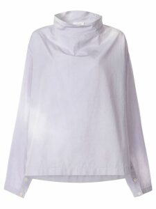 Lemaire stand-up collar blouse - Purple