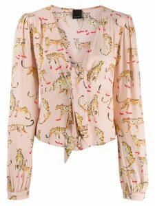Pinko Cheetah print blouse