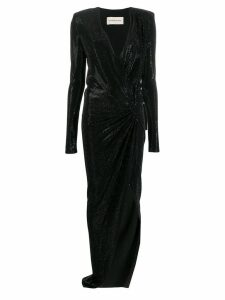 Alexandre Vauthier plunging v-neck dress - Black