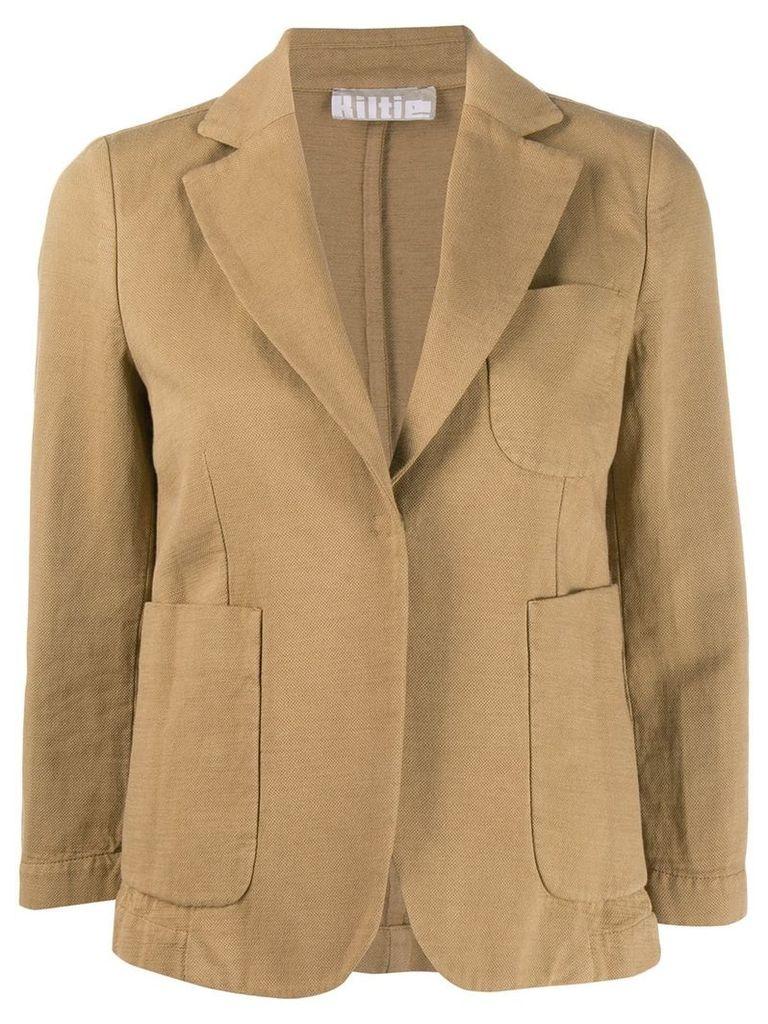 Kiltie tailored blazer jacket - Neutrals