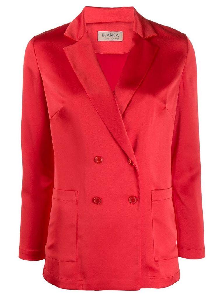 Blanca classic satin blazer - Red
