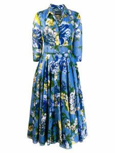 Samantha Sung floral shirt dress - Blue