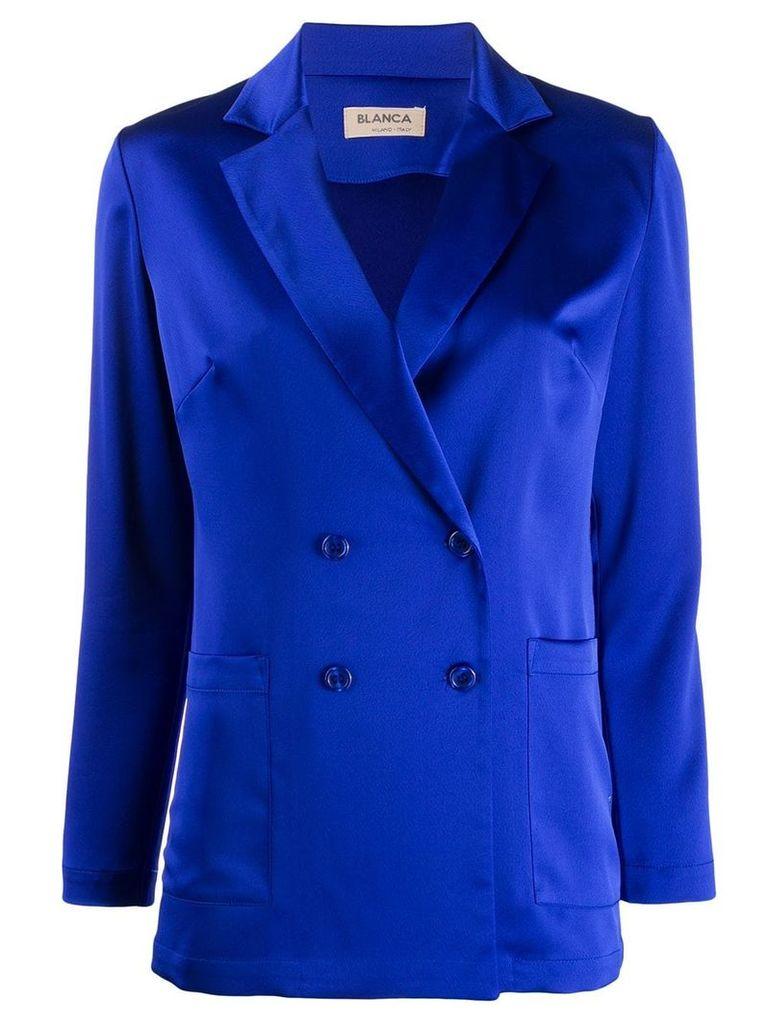 Blanca formal satin blazer - Blue