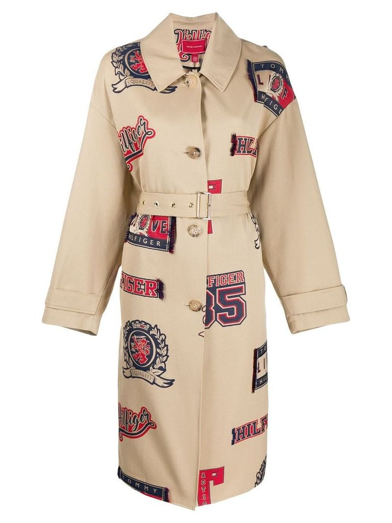 Tommy Hilfiger Letterman trench coat - Neutrals