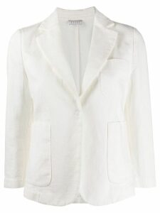 Kiltie tailored blazer jacket - White