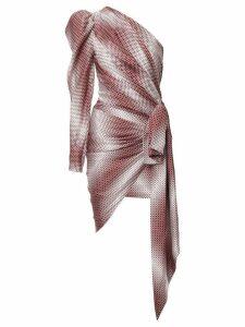 Alexandre Vauthier one shoulder wrap dress - Multicolour