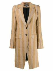 Ann Demeulemeester single breasted coat - Neutrals