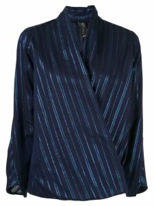 Zero + Maria Cornejo wrap front blouse - Blue