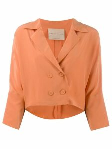 Erika Cavallini cropped sleeve blazer - Orange