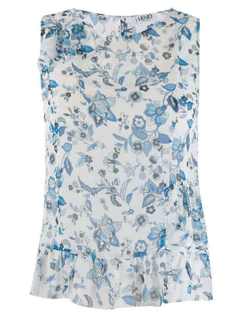 Liu Jo sleeveless floral blouse - Blue