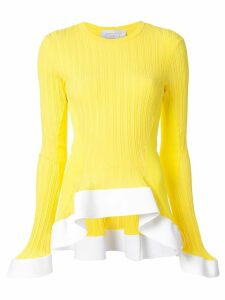 Esteban Cortazar ruffled hem jumper - Yellow