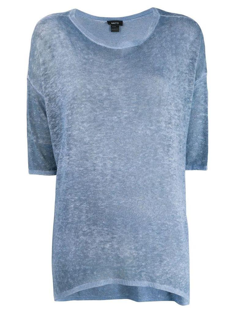 Avant Toi oversized T-shirt - Blue