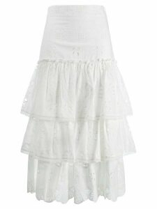 Alexis Broderie Anglaise ruffed skirt - White