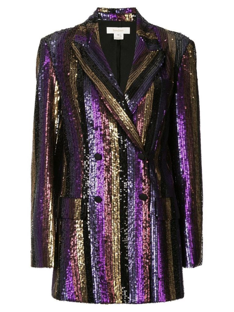 Semsem sequinned formal blazer - Purple