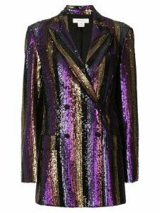 Semsem sequinned formal blazer - Purple