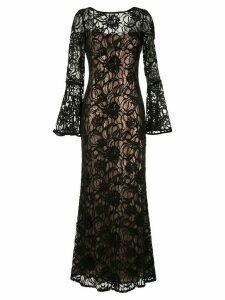 Tadashi Shoji layered sequin gown - Black