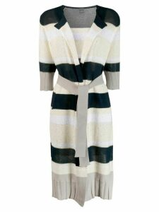 Lorena Antoniazzi striped cardi-coat - Blue