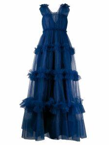 Dice Kayek tulle full evening dress - Blue