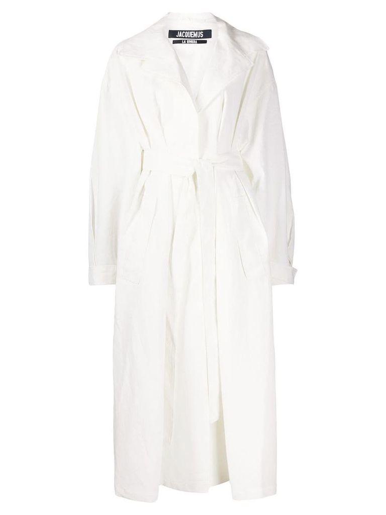 Jacquemus oversized trench coat - White