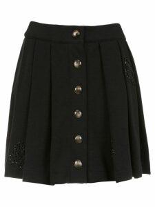 Andrea Bogosian pleated sweatskirt - Black