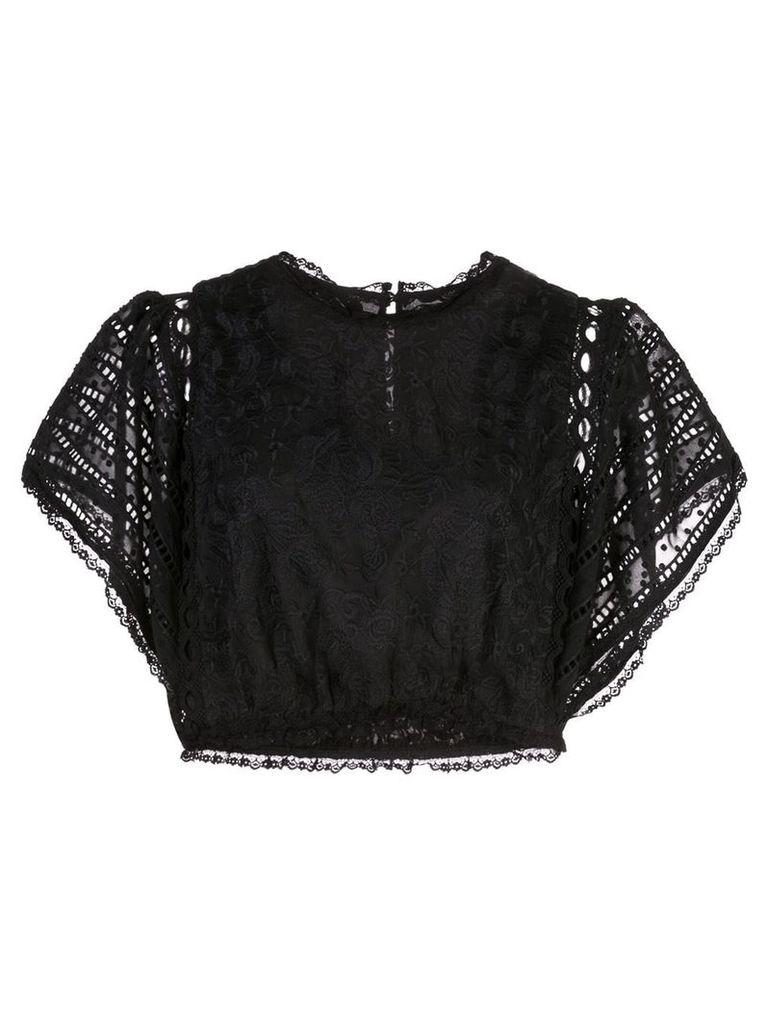 Cynthia Rowley Wicker Park lace top - Black