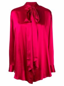Michael Lo Sordo pussy bow shirt - Red