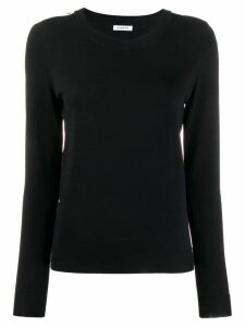 P.A.R.O.S.H. striped long-sleeve sweater - Black