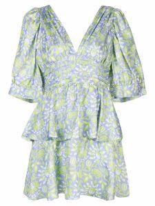 Cynthia Rowley Freida puff sleeve dress - Purple