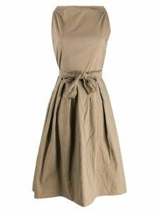 Daniela Gregis sleeveless flared dress - Brown